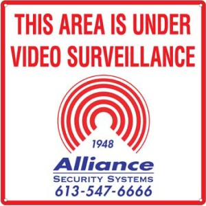alliance-alarms-video-surveillance-sign